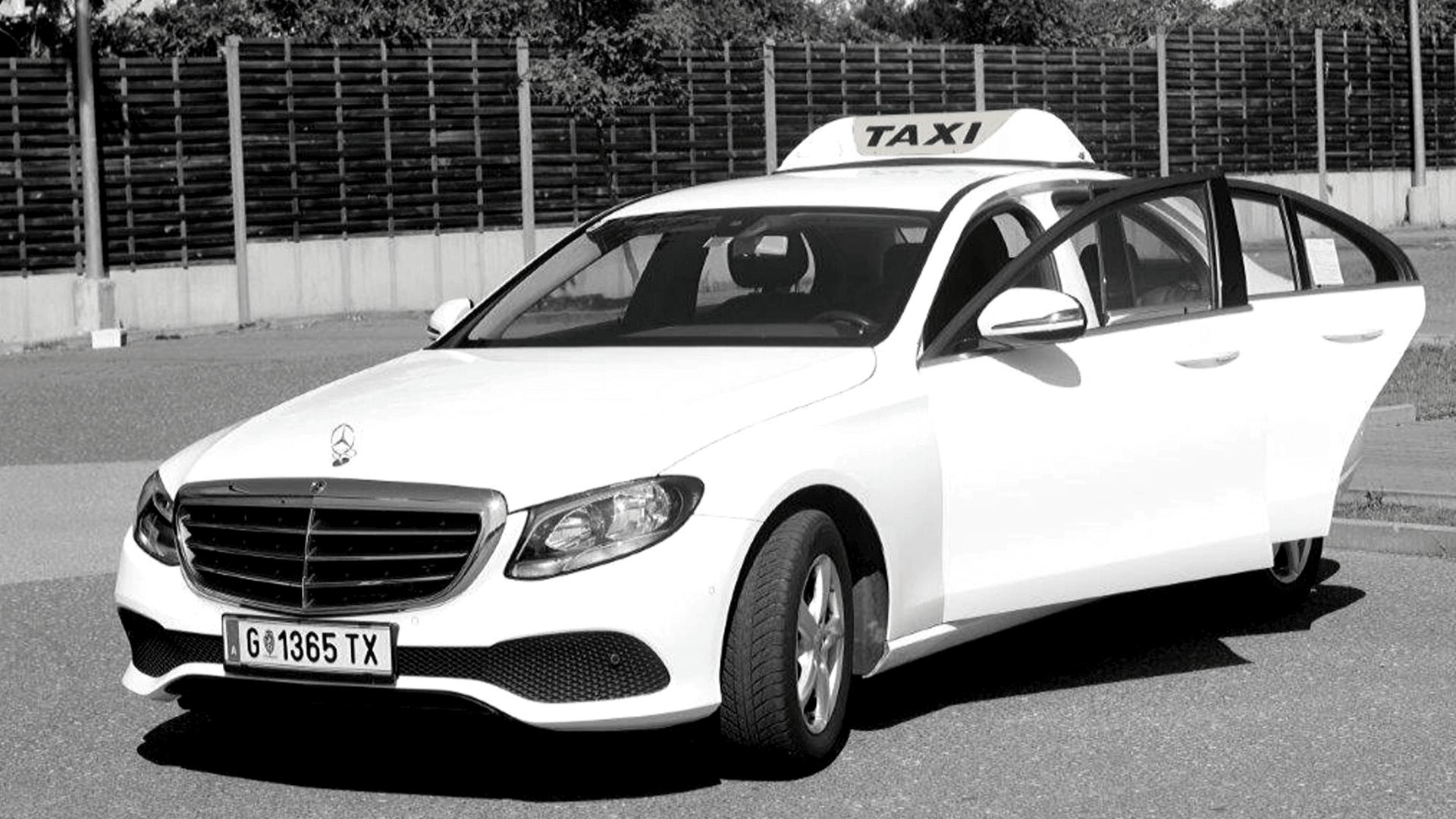 hire-a-car_mercedes-e-taxi in weiss